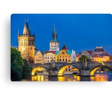 An evening in Prague Canvas Print