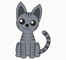 Gray Stripey Cat Kids Clothes