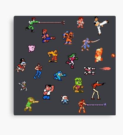 Champions of the NES! Canvas Print