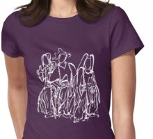 TLC Drawing - white Womens Fitted T-Shirt