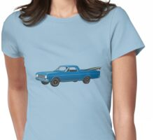 1966 Ford Ranchero at the Pier Womens Fitted T-Shirt