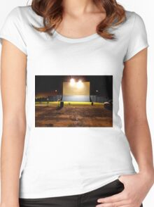 Drive in Theater Women's Fitted Scoop T-Shirt