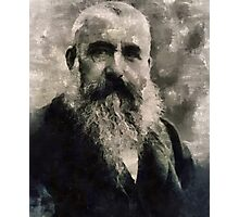Claude Monet, Artist Photographic Print