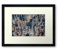 New York Blocks Framed Print
