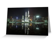 Petronas Towers Reflection Greeting Card