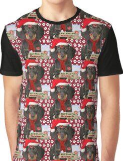 Dachshund Kisses For Christmas Graphic T-Shirt