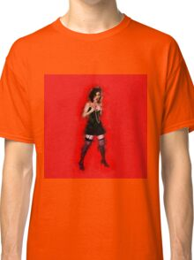 showgirl in lingerie and stockings  Classic T-Shirt