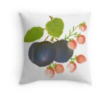 Plums and wild Strawberries  Throw Pillow