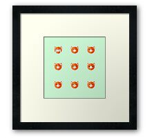 Emotional Foxes are Everywhere! Framed Print
