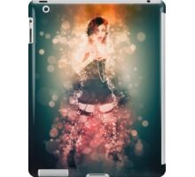 showgirl in lingerie and stockings  iPad Case/Skin