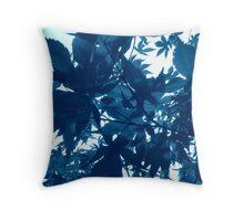 Foliage Blue Throw Pillow