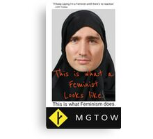 MGTOW justin  Canvas Print
