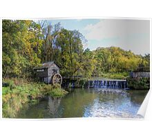 Autumn At Hyde's Mill Dam (est 1850) Poster