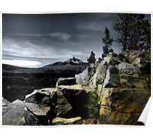 Mt. Washingtom ~ McKenzie Lava Beds ~ Poster
