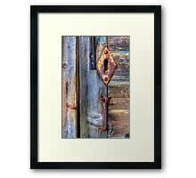 Old and Rusty Framed Print