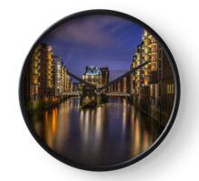 Hamburg By Night Clock