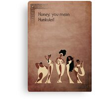 Hercules inspired design (The Muses). Canvas Print