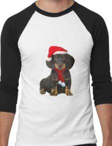 Dachshund Christmas Men's Baseball ¾ T-Shirt