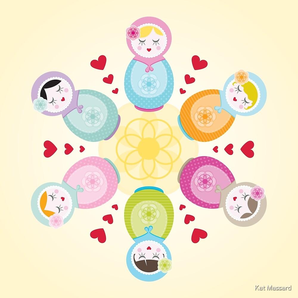 Russian Dolls - Mandala by Kat Massard