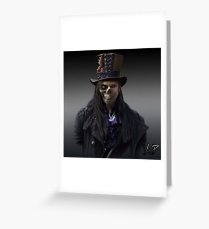 Gothic Zombie Greeting Card