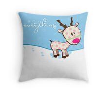 sweet little reindeer Throw Pillow