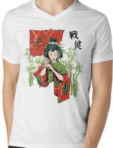 Traditional Geisha Design Mens V-Neck T-Shirt