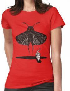 Mothman and a Cat Womens Fitted T-Shirt