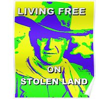 Living Free On Stolen Land Poster