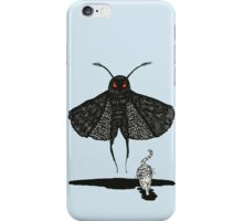 Mothman and a Cat iPhone Case/Skin