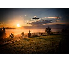 Vulcan at Sunset Photographic Print