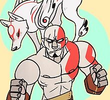 Kratos and Amaterasu Matching by deerynoise