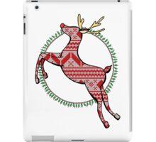 Christmas Reindeer Drawing iPad Case/Skin