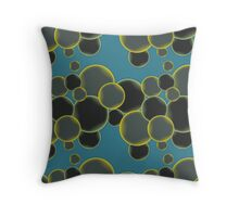 Bubbles - pattern vector design Throw Pillow