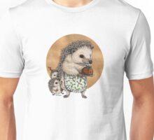 Yuletide Hedgehog & Hoglets Unisex T-Shirt