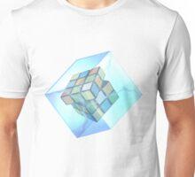 Rubik's Cube inside a Cube (added lightning effects). Unisex T-Shirt