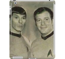 Leonard Nimoy and William Shatner, Star Trek Vintage iPad Case/Skin