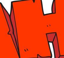 cartoon AH! shout Sticker