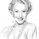 Helen Mirren drawing by wu-wei