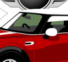 2014 Mini Cooper red Sticker