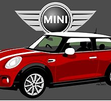 2014 Mini Cooper red by car2oonz