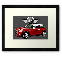 2014 Mini Cooper red Framed Print