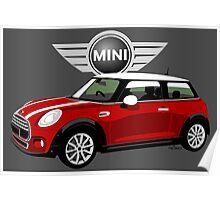 2014 Mini Cooper red Poster