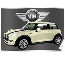 2014 Mini Cooper white Poster