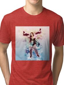 showgirl in lingerie and stockings  Tri-blend T-Shirt