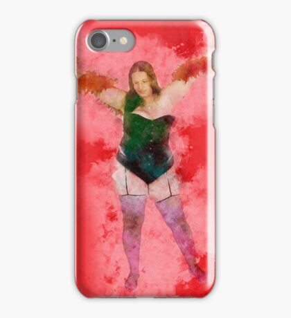 showgirl in lingerie and stockings  iPhone Case/Skin