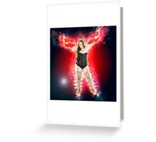showgirl in lingerie and stockings  Greeting Card
