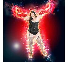 showgirl in lingerie and stockings  Photographic Print