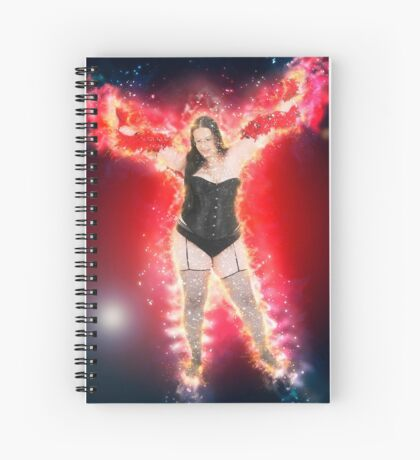 showgirl in lingerie and stockings  Spiral Notebook