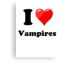 I Love Vampires Canvas Print