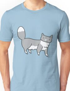Fluffy Blue Tuxedo Cat Unisex T-Shirt